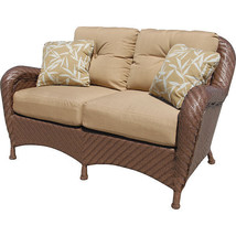 Nice Outdoor Hand Woven Grand Islands Estates Love Seat w/Pillows,58''L - $1,579.05