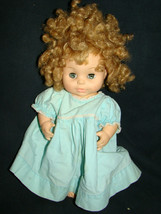 "Vtg 1977 Horsman Baby Doll Soft Rubber Vinyl Body Curly Hair Dress 11"" Pees 7-5 - $9.99"