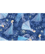"""Disney's """"Frozen"""" Elsa Character Toss on Blue B/G-Exclusive Printing-BTY - $4.95"""