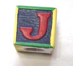 Miniature Ceramic Wooden Block Letter J  - $9.99