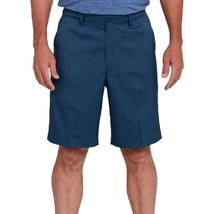 Pebble Beach Mens Comfort Flex Performance Shorts, Navy Blue, 32 - $32.66