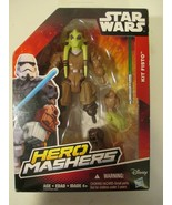 "Star Wars Hero Mashers Kit Fisto 6"" Figure New in Box Hasbro  - $8.90"