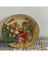 Avon Collector Porcelain Plate 1989 Together For Chritmas 8 In Teddy Bea... - $2.49