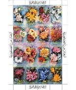 LIBYA 1983 garden FLOWERS M/S (folded)  MNH ROSES, LILIES - €2,15 EUR