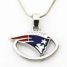 New England Patriots Pendant Snake Chain Necklace - $9.99