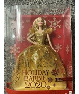 2020 Holiday Signature Barbie Doll Long Blonde Hair In Lovely Golden Gow... - $64.35