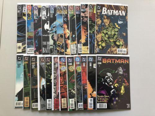 Lot of 24 Batman (1940) from #0 471-545 VF-NM Near Mint