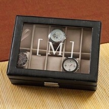 Engraved Men's Watch Box Engraved Gifts for Men Personalized Gifts - $51.98