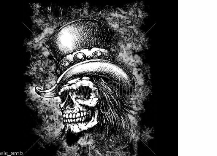 Primary image for Smoking Skull Top Hat HEAT PRESS TRANSFER for T Shirt Sweatshirt Fabric #720o