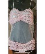 Very Rare Authentic Vintage Ruffled top and bottom Teddy size Small Ling... - $195.99