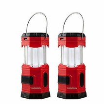 TANSOREN 2 PACK Portable LED Camping Lantern Solar USB Rechargeable or 3... - $29.79
