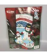 Bucilla Personalized Christmas Stocking kit Snowman Skating Felt applique - $72.74
