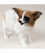 PAPILLON (BROWN) DOG Figurine Statue Hand Painted Resin Gift Pet Lovers - $19.99