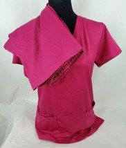 GT Performance Womens Scrubs Sz M Top & Sz L Pants Pink Short Sleeve 2 P... - $31.12