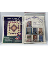 Vintage Dream Spinners Baby Quilt And Flowering Lily Hearts Quilts Sheets - $10.84
