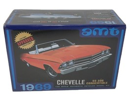 AMT 823 1969 CHEVY CHEVELLE CONVERTIBLE SS 396 MODEL CAR MOUNTAIN 1/25 K... - $36.63