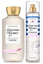 Bath & Body Works 2 Piece Beachfront Blanket Set - Shower Gel & Fragrance Mist - $33.99