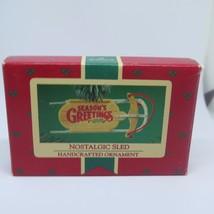 "Hallmark Keepsake Ornament ""Nostalgic Sled"" 1984 - $2.73"