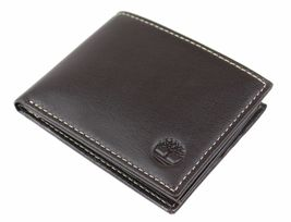 Timberland Men's Genuine Leather Passcase Credit Card Id Billfold Wallet image 9