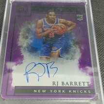 NBA card RJ BARRETT RC AUTO # 9 2019-20 PANINI IMPECCABLESTAINLESS STARS... - $989.01