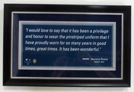 Mariano Rivera New York Yankees Framed 18x12 Photo w/ Quote - $57.82