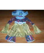 Child One Size 3-6 Hippie Halloween Costume Pants EUC Shirt Top Hat New ... - $30.00
