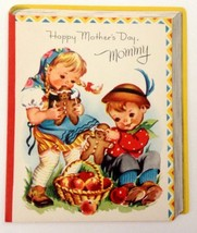 Unused Vintage Card Volland Mother's Day Mommy Children Boy and Girl - $12.86
