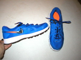 New Mens Nike Training Running Shoes 9 Mens Blue White Orange 10 Womens ... - $42.00