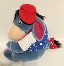 "The Disney Store Patriotic Eeyore Plush Stuffed Animal Red White Blue Stars 11"" - $21.49"