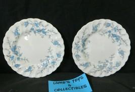 "Myott England Forget Me Not Fine Staffordshire Ware 6"" diameter set of 2... - $18.99"