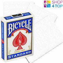 BICYCLE NO FACE NO BACK BLANK ALL WHITE MAGIC TRICKS CARDS DECK USPCC NEW - $6.85