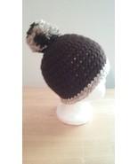 Handmade Crochet Newborn Baby Hat/Brown - $13.00