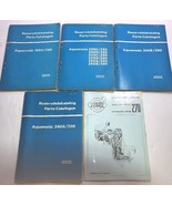 Reservdelskatalog Parts Catalogue Lot of Catalogs Aquamatic 240A 200B 20... - $46.74