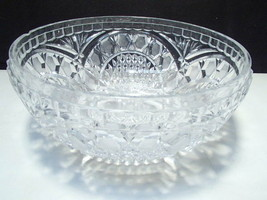 "Gorgeous Cut Crystal Center Bowl 3 5/8"" x 8 1/2""  - $12.99"