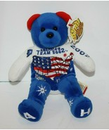 "Team Ring Bears 8"" Plush Teddy Americas Team 2002 Winter Olympics A H Fe... - $57.92"
