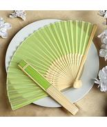 Wholesale Silk Folding Wedding Party Favor Fans Apple Green YSefa - $131.68