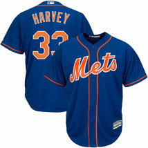 Matt Harvey New York Mets Majestic Men's Royal Alternate Cool Base Playe... - $41.58