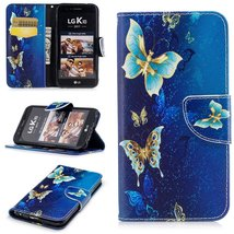 XYX Wallet Phone Case for LG K20 Plus Case,LG LV5,[Golden Butterfly][Kic... - $9.88