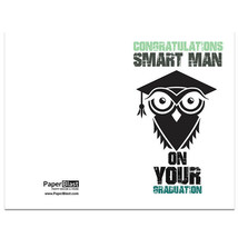 Smart Owl Graduation Card --- with Custom Handwritten Message - mailed t... - $2.23