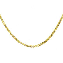 14K Yellow Gold 24 Inch Box Link Chain 8.2 Grams 2mm - $612.81