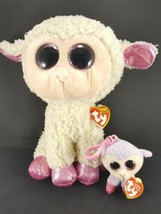 2 Ty Beanie Baby Boo Easter Twinkle Lamb Lilli KeyChain Belt Clip Plush ... - $17.81