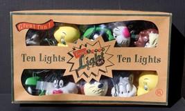 VTG Vintage Looney Tunes 10 Light Set Bugs Tweety Taz Sylvester Green Martian - $49.99
