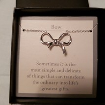 Avon Sterling Silver Infinite Meaning Necklace Bow - $18.99