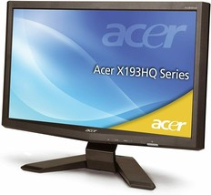 "Acer Monitor Acer X193HQL 18.5"" Widescreen LCD Monitor, 1366 x 768 Resolution - $37.20"