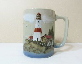 Otagiri Coffee Cup Mug Lighthouse Nautical Seagulls Sailboats Made in Japan - $9.99