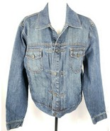 J. Crew Denim Blue Jean Jacket Trucker Style L Cotton Pockets              - $49.49