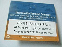 Jacksonville Terminal Company # 205384 RAFFLES (RFCU) 20' Standard Container image 4