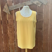 VTG Da Rue for Neil's Apparel Tank Blouse Women's Size 12 Yellow - $18.70
