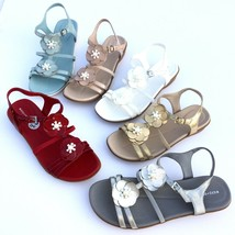 Easy Spirit Haven Sandals Womens Patent Leather Flats Pearl Beaded Flowers  - $53.95