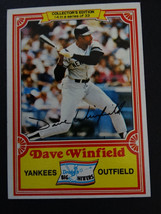 1981 Topps Drake's Big Hitters Dave Winfield New York Yankees #14 of 33 Card - $1.25